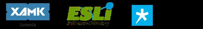 Kaakkois-Suomen ammattikorkeakoulun nuorisoalan tutkimus- ja kehittämiskeskus Juvenian, Etelä-Savon Liikunta ry:n ja Ammattiopisto Spesian logot.